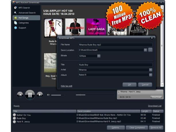 MP3 Rocket Download Screenshot