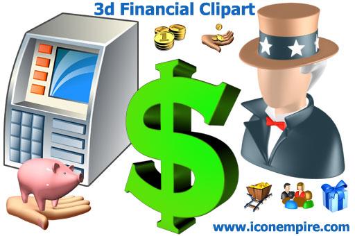Financial Support Clipart 3d Financial Clipart